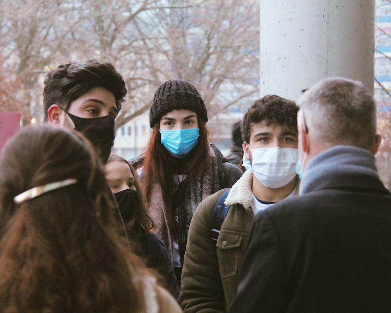 People with masks